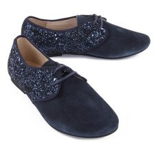 Manuela de Juan  Lea Suede and Sequin Derbies-listing