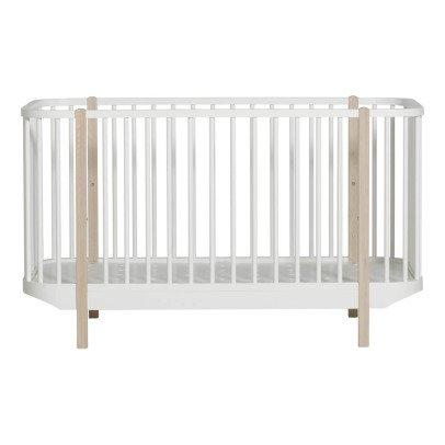 Oliver Furniture Lit bébé évolutif 70x140 cm en chêne-listing
