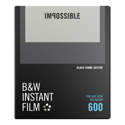 Impossible Project B&W Film for 600 avec bords noir-listing