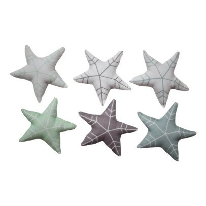 Fabelab Set of 6 Fabric Star Ornaments-listing
