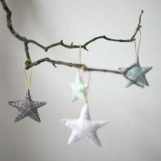 Fabelab Set de 6 ornamentos en tela Estrellas-listing