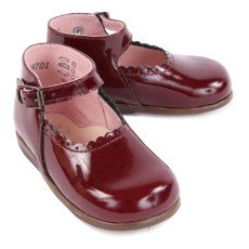 Little Mary Vocalise Patent Leather Baby Shoes Burgundy-listing