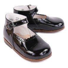 Little Mary Babies Cuir Vernis Vocalise Noir-listing