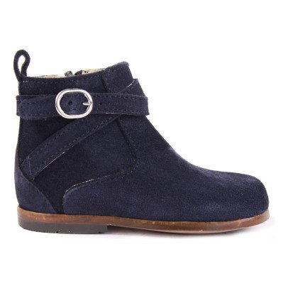Little Mary Amille Suede Boots with Zip Navy blue-listing