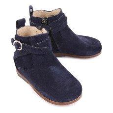 Little Mary Boots Suède Zippées Amille Bleu marine-listing