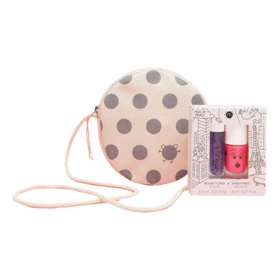 Nailmatic Kids Nail Varnish and Roller Ball Duo with Pipoca Bag-listing