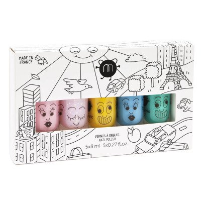 Nailmatic Kids City Set of 5 Nail Varnishes-listing