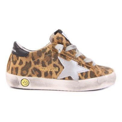 Golden Goose Zapatillas Ante Leopardo Superstar-listing