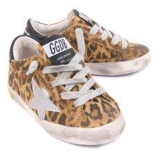 Golden Goose Superstar Leopard Print Suede Trainers-listing