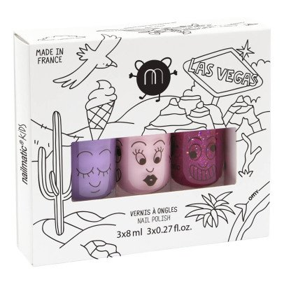 Nailmatic Kids Las Vegas Set of 3 Nail Varnishes-listing
