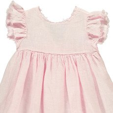 Il Gufo Tie Back Linen Dress-listing