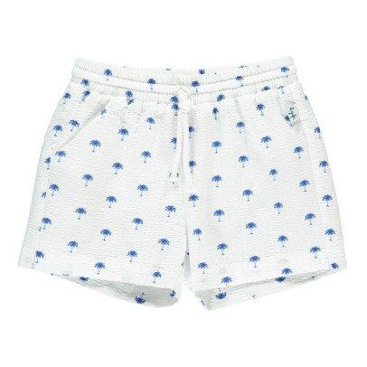 Il Gufo Palm Tree Seersucker Shorts-listing