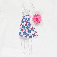 Il Gufo Pompon Little Girl T-Shirt-listing