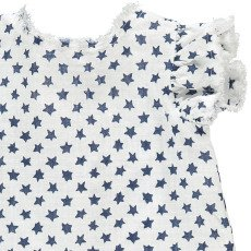 Il Gufo Tie Back Star Blouse-listing