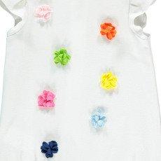 Il Gufo Floral Pompom Romper-listing