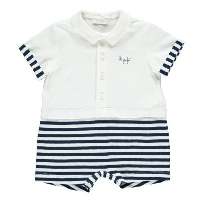 Il Gufo Striped 2in1 Playsuit-product