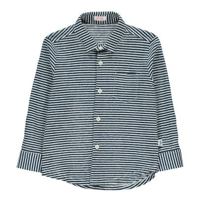 Il Gufo Striped Jersey Shirt with Pocket-listing