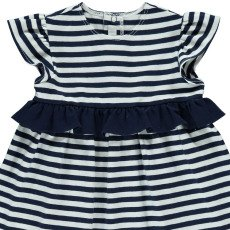 Il Gufo Ruffle Striped Dress-listing