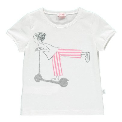 Il Gufo Little Girl Scooter T-Shirt-listing