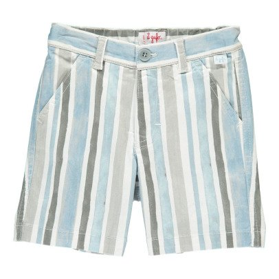 Il Gufo Striped Bermuda Shorts-listing