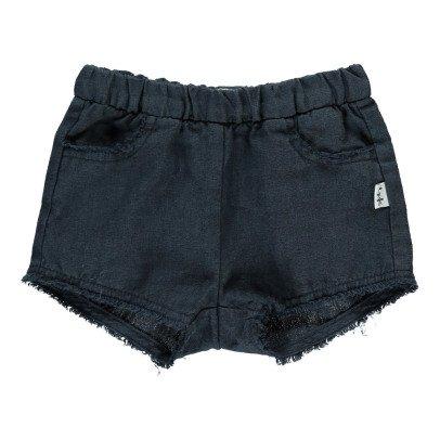 Il Gufo Shorts aus Leinen mit Franzen -listing