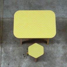 Studio delle alpi Table de bureau The Office étoiles Jaune-listing