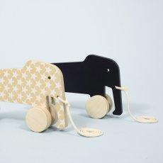 Studio delle alpi Elefante para tirar Eddy Negro-listing