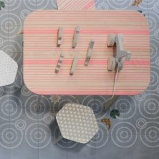 Studio delle alpi Table de bureau The Office lignes Rose-listing
