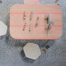 Studio delle alpi Table de bureau The Office lignes Rose-listing