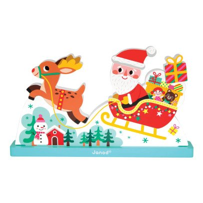 Janod Father Christmas' Sleigh Magnetic Puzzle-product