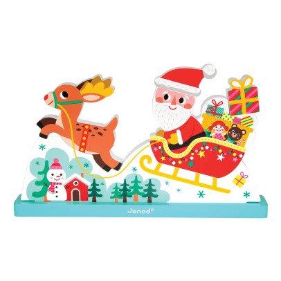 Janod Puzzle vertical magnétique le traîneau du Père Noël-listing