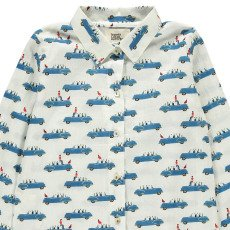 Le Petit Lucas du Tertre Pijama Camisa + Pantalón Coches-listing