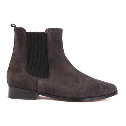 Emma Go Boots Chelsea Suède Grimsby Gris anthracite-listing