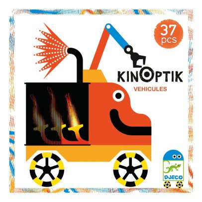 Djeco Juego Kinoptik Vehículos Multicolor-listing