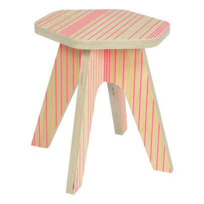 Studio delle alpi Tabouret The Milk lignes Rose-listing