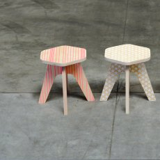 Studio delle alpi Hocker The Milk- Rosa -listing
