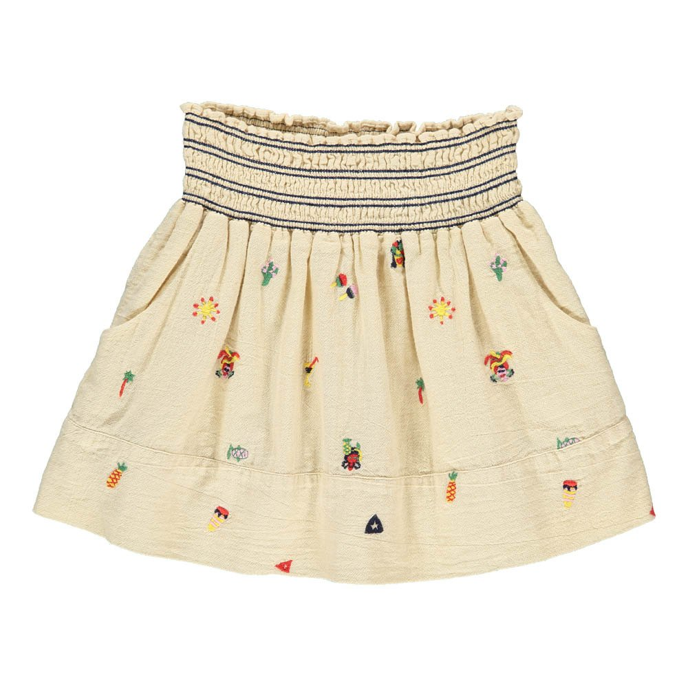 Funny Embroidered Smock Skirt-product