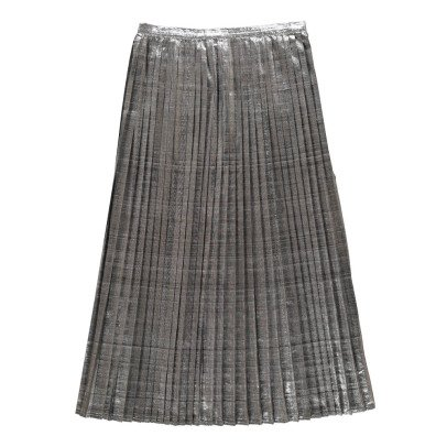 Polder Pleated Metallic Osaka Maxi Skirt-listing