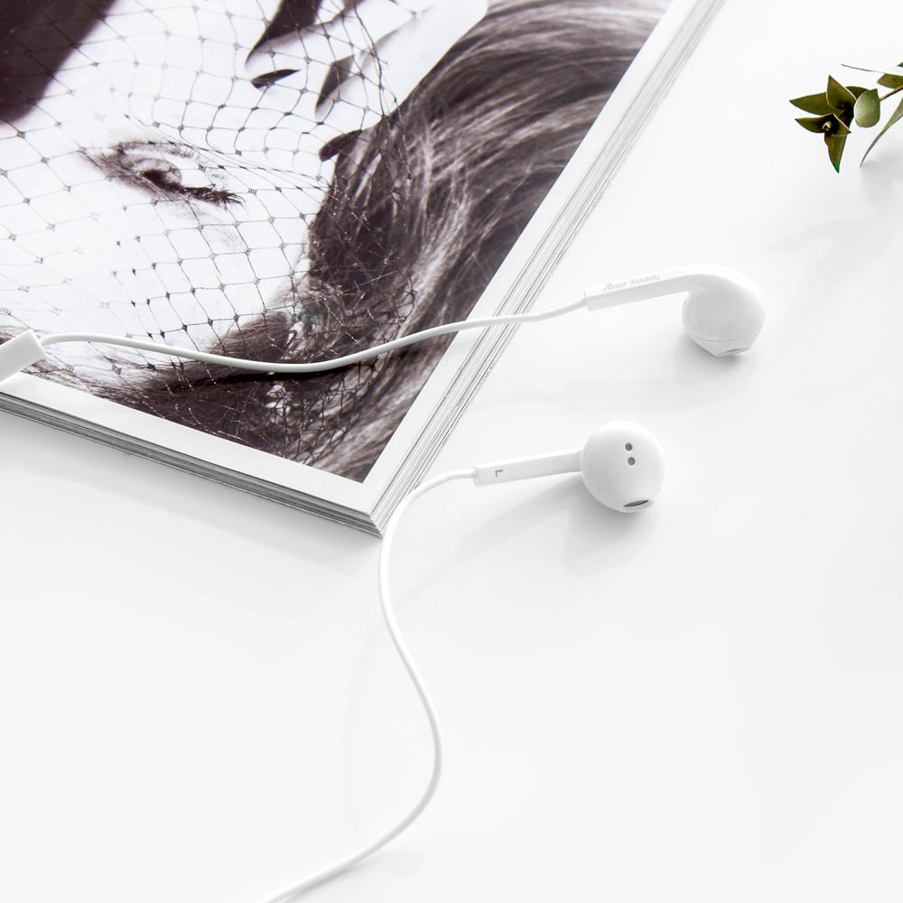Happy Plugs Auriculares Earbud plus Blanco-product