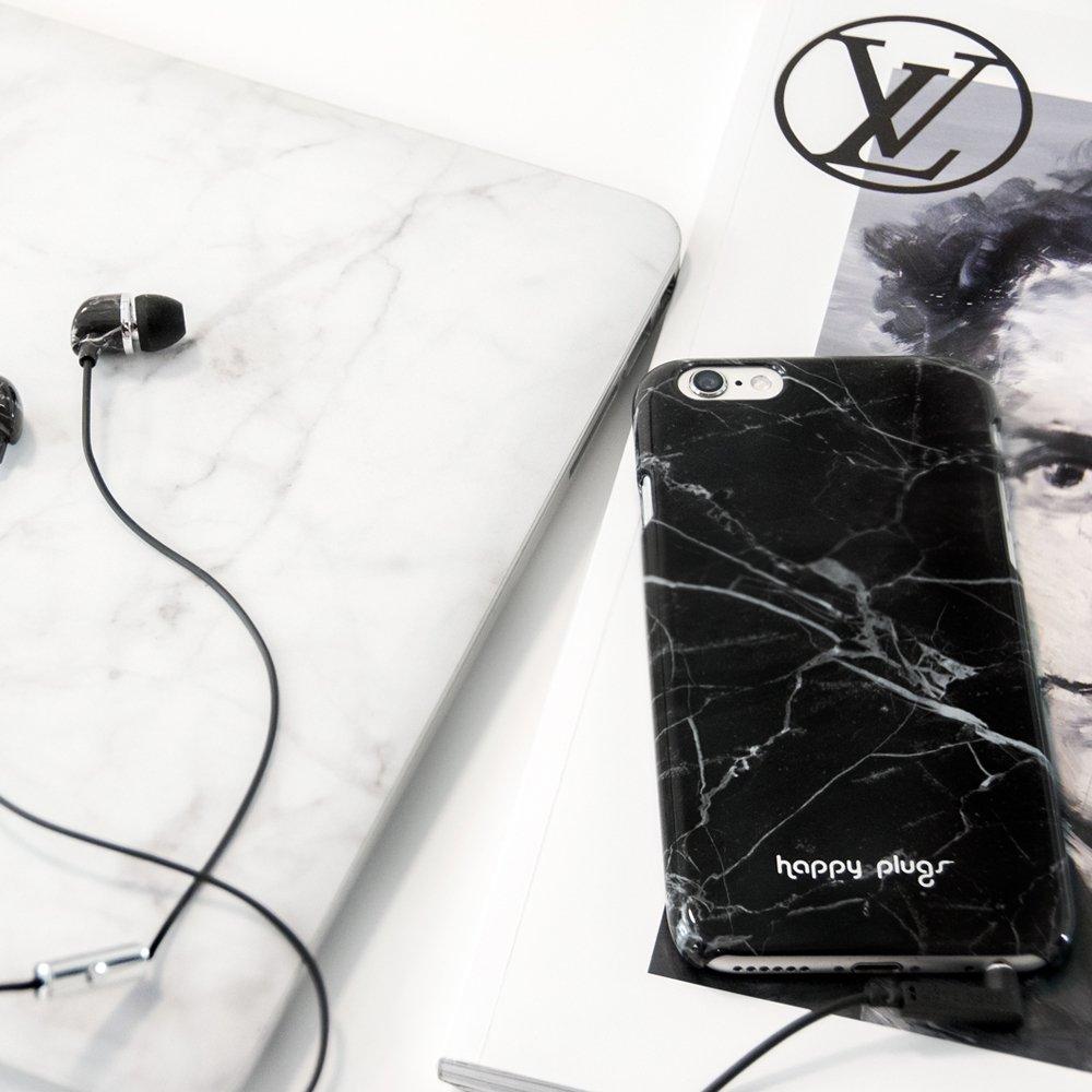 Happy Plugs Coque I-phone 6 Marbré noir-product