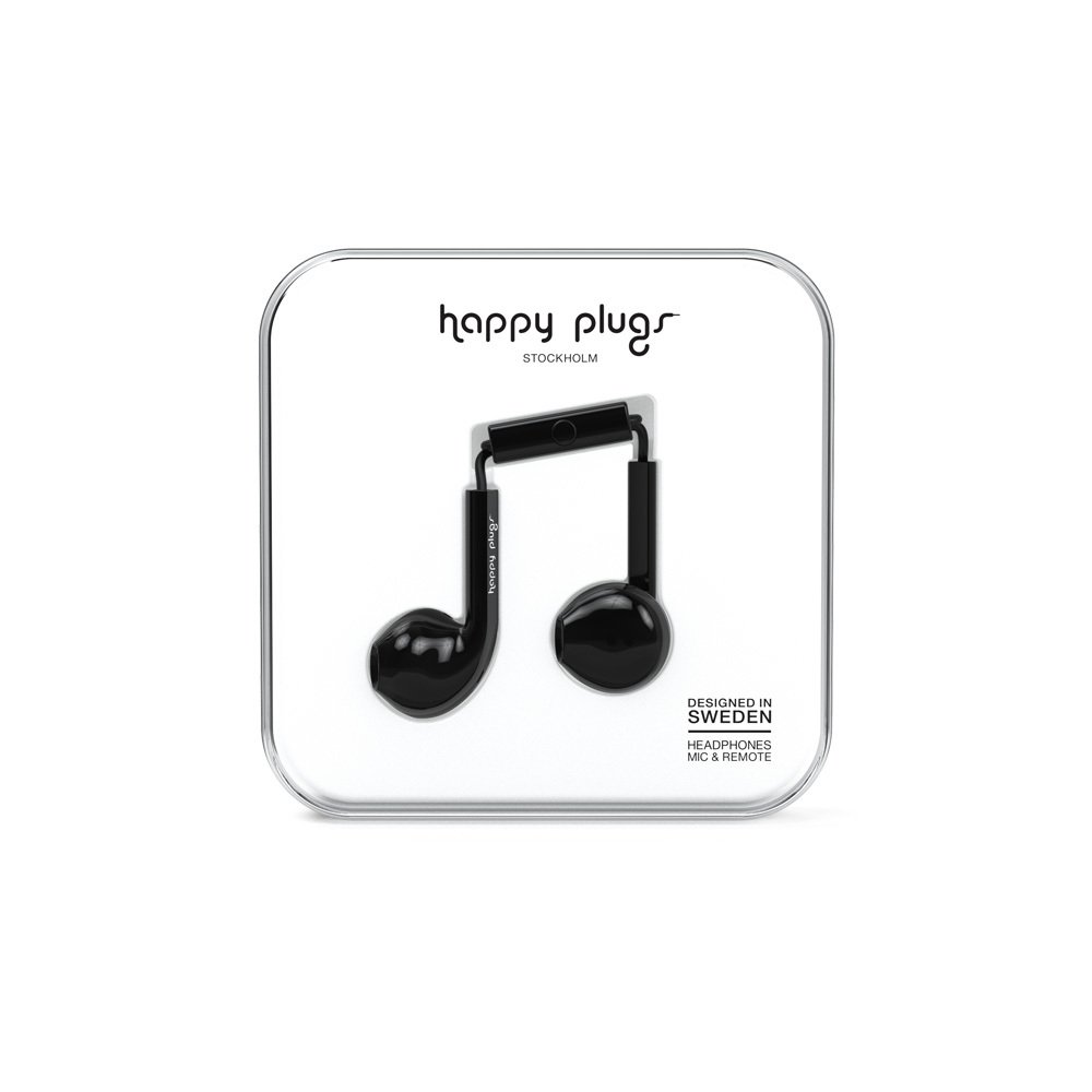 Happy Plugs Earbud Black Headphones Plus-product