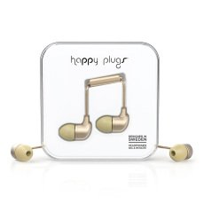 Happy Plugs Champagne In-Ear Earphones -listing