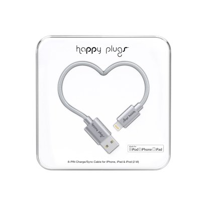 Happy Plugs Cable recarga para I-phone 6 Plateado-listing