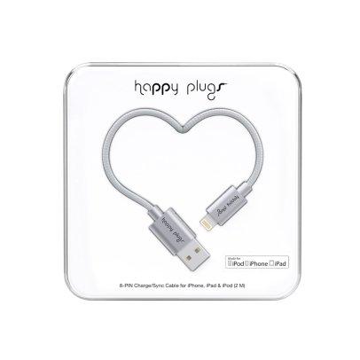Happy Plugs Câble recharge pour I-Phone 6 Argenté-listing