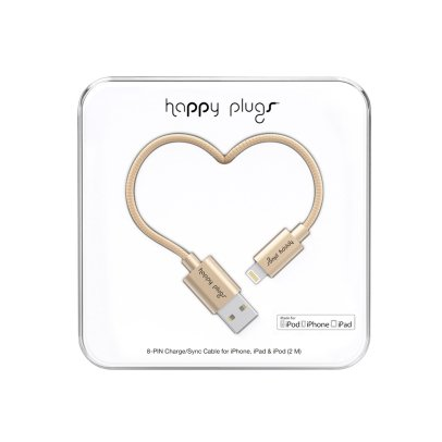 Happy Plugs Cable recarga para I-phone 6 Champagne-listing