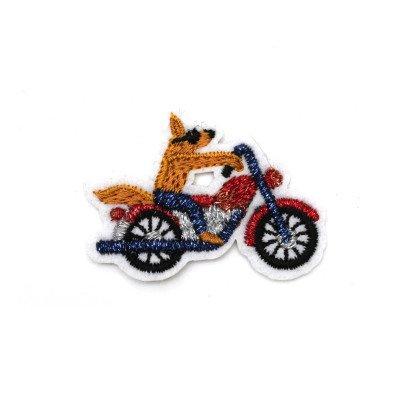Macon & Lesquoy Ecusson Coyote Biker Marron-listing