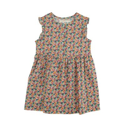 Poppy Rose Robe Boutonnée Liberty Tropical Sia-listing