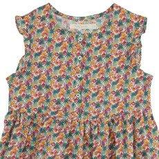 Poppy Rose Vestito Bottoni Liberty-listing