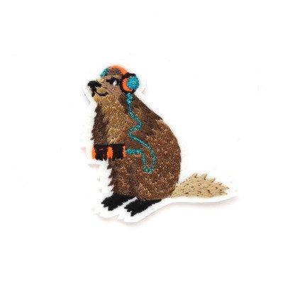 Macon & Lesquoy Ecusson Marmotte Marron-listing