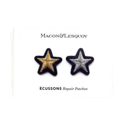 Macon & Lesquoy Assortiment de 2 Ecussons Etoile Doré-listing